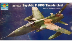 F-105D Republic, Thunderchief - TRUMPETER 02201 1/32