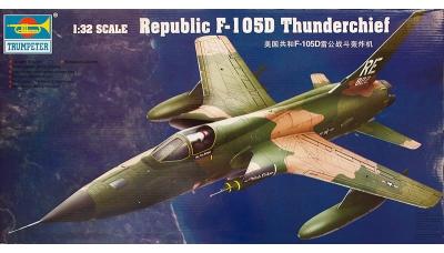 F-105D Republic, Thunderchief - TRUMPETER 02201 1/32