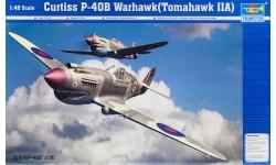 P-40B Curtiss, Warhawk, Tomahawk IIA - TRUMPETER 02807 1/48