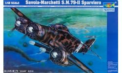 S.M.79-II Savoia-Marchetti, Sparviero - TRUMPETER 02817 1/48