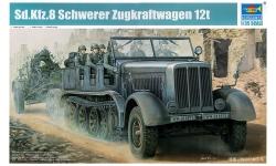 Schwerer Zugkraftwagen 12t, Sd.Kfz. 8, DB 10, Daimler-Benz - TRUMPETER 01583 1/35