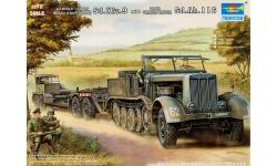s. Zgkw. 18t, Sd.Kfz. 9, F3, FAMO / Tiefladeanhänger für Panzerkampfwagen 22/23t, Sd. Ah. 116 - TRUMPETER 07275 1/72