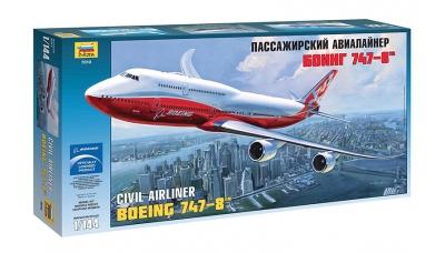 Boeing 747-8, Jumbo Jet - ЗВЕЗДА 7010 1/144
